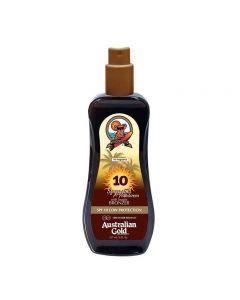 Australian Gold SPF10 Spray Gel Sunscreen BRONZER 237 ml