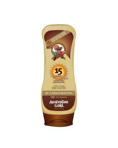 Australian Gold SPF15 Lotion Sunscreen BRONZER 237 ml