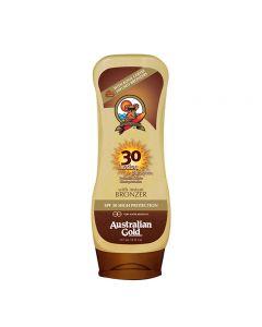 Australian Gold SPF30 Lotion Sunscreen BRONZER 237 ml