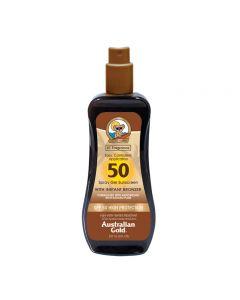 Australian Gold SPF50 Spray Gel Sunscreen BRONZER 237 ml
