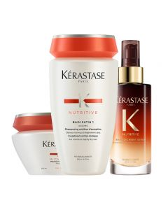 Kerastase Kit Nutritive Irisome Bain 1 + Masque Fini + Siero Notte