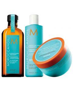 Moroccanoil Kit Moisture Repair Shampoo + Mask + Trattamento