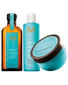 Moroccanoil Kit Hydrating Shampoo + Mask + Trattamento