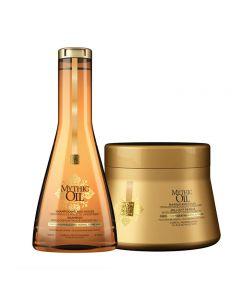 L'Oreal Kit Mythic Oil Shampoo + Masque Normali/Fini