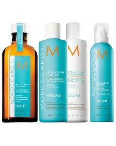 Moroccanoil Kit Extra Volume Shampoo + Conditioner + Styling + Trattamento Light